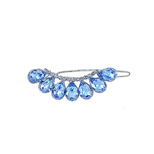 Glamorousky Glistering Barrette with Blue Austrian Element Crystal (3714)