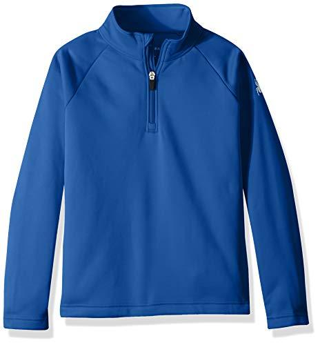 Spyder Girls' Savona Half Zip T-neck Shirt, Turkish Sea/Turkish Sea, -