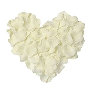 Danyoun Artificial Silk Rose Petals, Wedding Flower, Confetti Table Scatter Partys, Weddings, Wedding Flower Girl Baskets, Banquet, Table decoration, 1000PCS 11