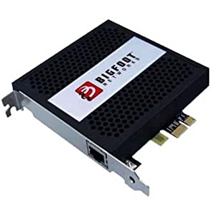 Bigfoot Networks Killer 2100 - Accesorio de red (Alámbrico, PCI-E, Ethernet, 1000 Mbit/s, 10/100/1000 Mbps, 10 W) Negro, Plata