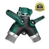 Ayla 2Way Metal Garden Hose Splitter, No Leakage, No Rupture, Easy to Install, Suitable for Patio Lawn and Garden Hose Splitter