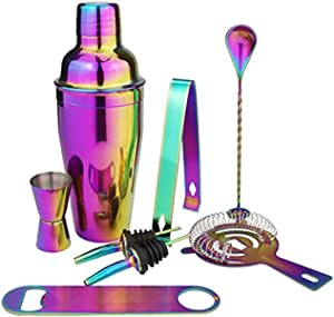 Exquisite Cocktail Making Set 8 Piece, Cocktail Shaker Set with Accessories Including Shaker, Jigger and Strainer Gift