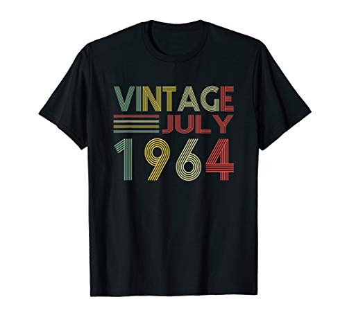 Born in July 1964 Vintage 55th Birthday Gift T-shirt ()
