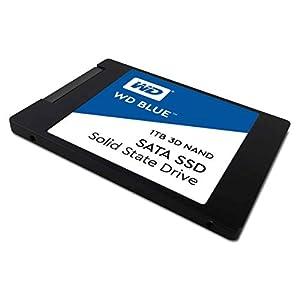 """Western Digital 1TB WD Blue 3D NAND Internal PC SSD - SATA III 6 Gb/s, 2.5""""/7mm, Up to 560 MB/s - WDS100T2B0A"""