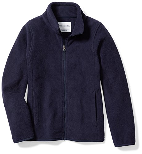 g Girls' Full-Zip Polar Fleece Jacket, Night Navy, Large (Navy Blue Fleece)