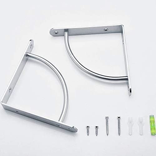 YIRNB 棚受け金具 2個 棚受け ブラケットステンレス製 棚ブラケットシルバー フローティング棚 壁掛け ネジ付き DIY装飾的 130/170/220mm