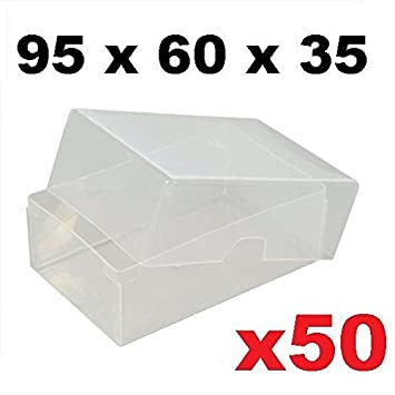 X50 Carte De Visite En Plastique Transparent Boites X 95 Mm 60 35