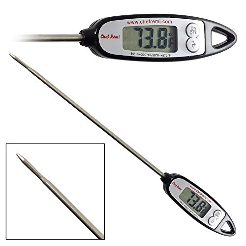 Digital Turkey Thermometer - Whether You Roast, Brine, Smoke, Deep Fry Or Grill Your Meat, Use Our Long Probe To Get An Instant Temperature This Thanksgiving