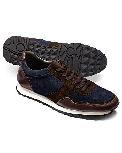 Navy and Brown Sneaker by Charles Tyrwhitt Blue CuHoqd