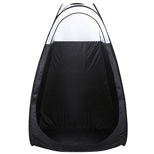 Price comparison product image Yaheetech Pop Up Tanning Tent Airbrush Makeup Sunless Over Spray Booth, 52 x 46.5 x 78.7'', Black
