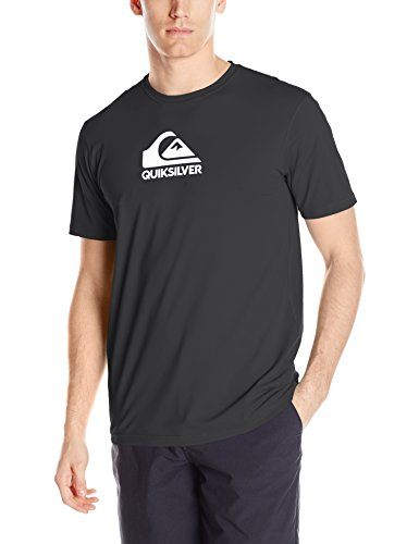 id Streak Short Sleeve Rashguard Swim Shirt, Black X-Large ()