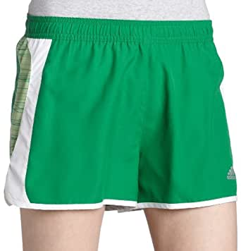 adidas Women's 3-Inch Energy Pacer Print Short,Core Green/White,L3