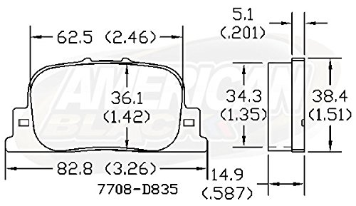 OE Premium Quality QUIET /& DUST FREE American Black ABD835C Professional Ceramic Rear Disc Brake Pad Set Compatible With Lexus ES300 00-01 // Scion tC 05-10 // Toyota Camry 6 Cyl 00-01 Perfect fit