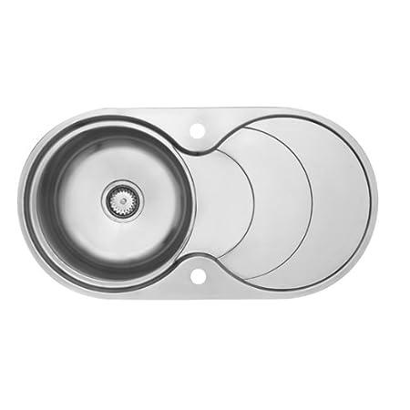 Astracast CC10 X XHOMESK Top Mount Kitchen Sink Oval Stainless Steel Sink U2013  Kitchen Sinks
