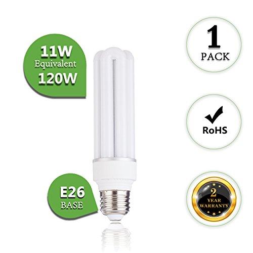 ((1-Pack)11W Led Corn Light Bulbs Medium E26 Base 5000K Daylight White 1280Lumen Replacement for 120Watt Metal Halide Bulb HID CFL HPS Use in Warehouse Garage 360 Degree Flood High Bay Fixtures)