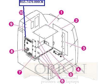 - HP LaserJet 4650 RG5-7470 RG57470 DC CONTROLLER BOARD