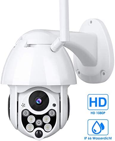 Outdoor Camera WiFi 1080P, Mbuynow PTZ Camera Waterproof IPX6, Surveillance Camera with Motion Detection 3.6mm Lens, Two-Way Audio, Night Vision, Remote Access, Compatible with IOS Android APP