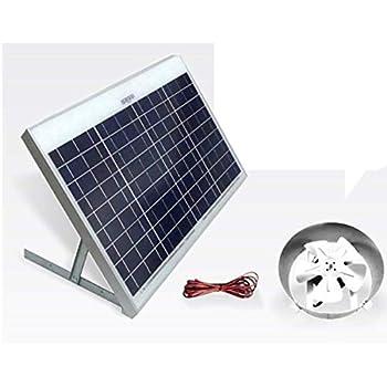 Amazon Com Amtrak Solar Powered Attic Gable Fan Home