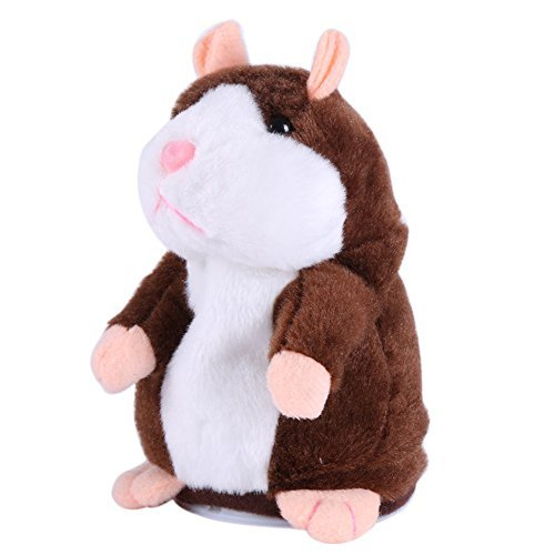 Forart Lovely Talking Hamster Toys Repeats What You Say Plush Buddy Mouse for Children Gift