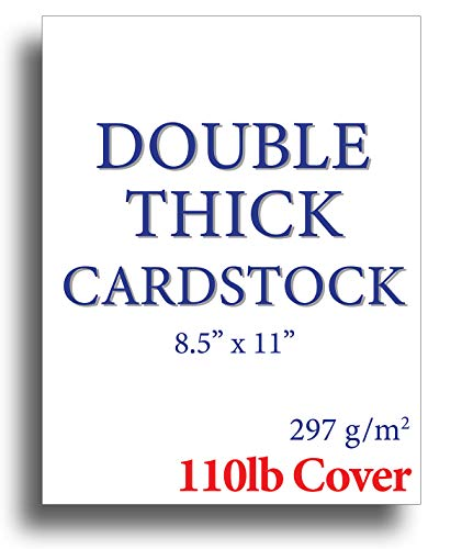 - 110lb Cover Ultra Heavyweight Double Thick Cardstock - Bright White - 8.5