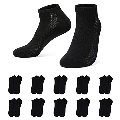 YouShow 10 Paar Sneaker Socken Herren Damen Atmungsaktives Mesh Sportsocken Kurze Halbsocken Baumwollsocken