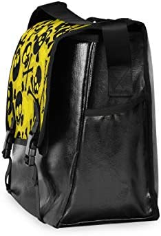 メッセンジャーバッグ メンズ スカル 髑髏 黄色 斜めがけ 肩掛け カバン 大きめ キャンバス アウトドア 大容量 軽い おしゃれ