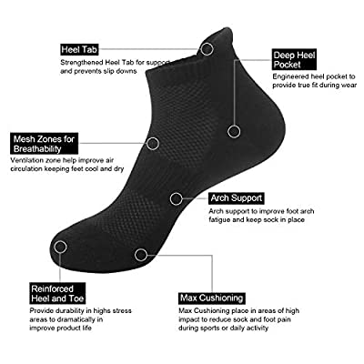 6 Pairs No Show Socks Women Men Low Cut Non-Slip Casual Athletic Cotton Socks at Women's Clothing store