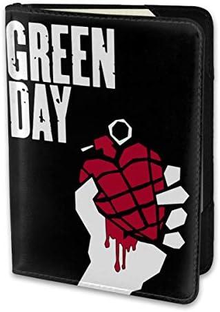 Green Day グリーン・デイ パスポートケース パスポートカバー メンズ レディース パスポートバッグ ポーチ 携帯便利 シンプル 収納カバー PUレザー収納抜群 携帯便利 海外旅行 出張 小型 軽便