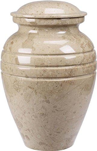 - UrnConcern Cremation Urn | Polished Cream Wash Marble | 11
