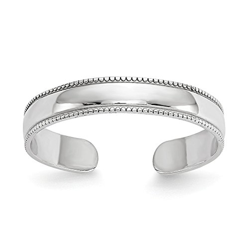 FB Jewels Solid 14K White Gold Polished Toe Ring