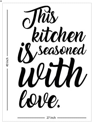 This Kitchen is Seasoned with Love Wall Vinyl Decal Quote