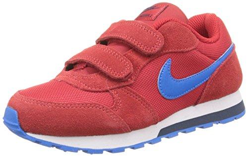 Nike MD Runner 2 (PSV) - Zapatillas para niño, multicolor Multicolor (UNIVERSITY RED / PHT BLUE OBSDN)