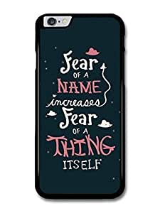 "AMAF ? Accessories Harry Potter Fear Of A Name Dumbledore Hermione Quote case for iphone 5C ("")"