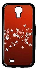Samsung Galaxy S4 I9500 Black Hard Case - Red Galaxy S4 Cases