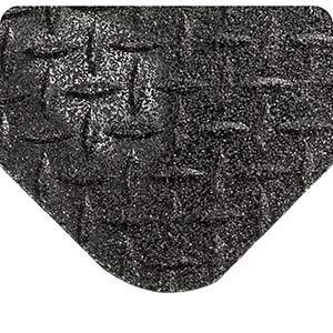 (Wearwell 416, GRITSHIELD Diamond-Plate SpongeCote Anti-Fatigue Mat, 15/16 Inch x 2' x 3', Black)