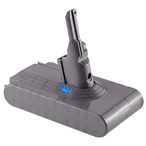 Upgraded to 4.5Ah, Jialitt Replacement Battery for Dyson V8 Animal Absolute Fluffy Motorhead Cordless Vacuum Cleaner