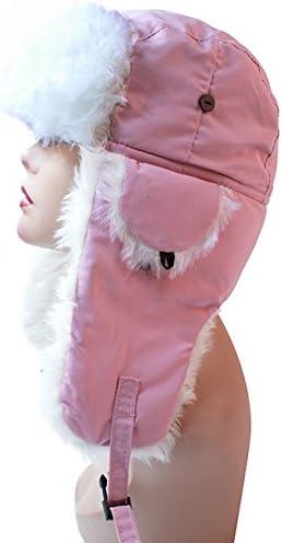 Pop Fashionwear Womens Trapper Winter Ear Flap Hat P136 Pink
