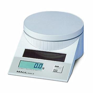 MAULtronic 1515002 - Báscula solar para correo (hasta 5 kg), color blanco: Amazon.es: Oficina y papelería