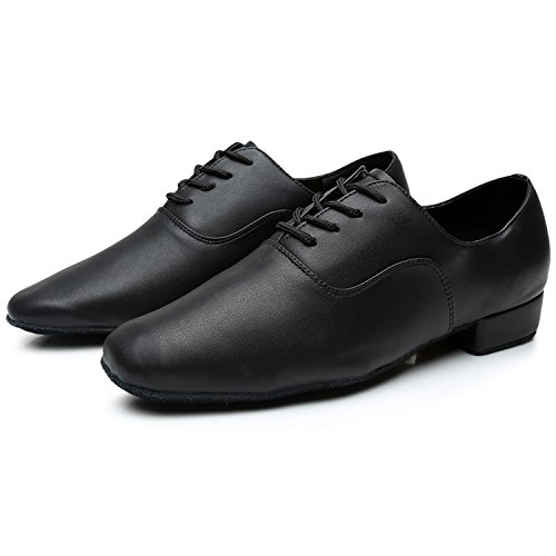 Lace Shoes Men's Oasap Dance Leather up Black Pointed Toe Latin BFn6q