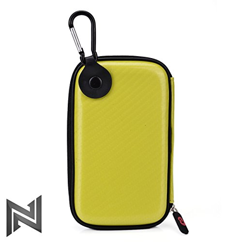 Electric Yellow Hard Cover Case for Travel w/Hook & Internal Compartments:for Pax Vaporizer by Ploom & Accessories NuVur ™