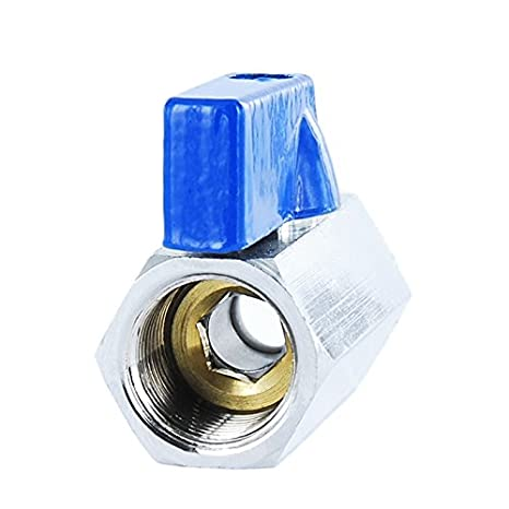 Aluminium Handle and Reduced Headroom Brass Ball Valve Mini Style Connector with Reduced Bore Male X Female Thread Fitting