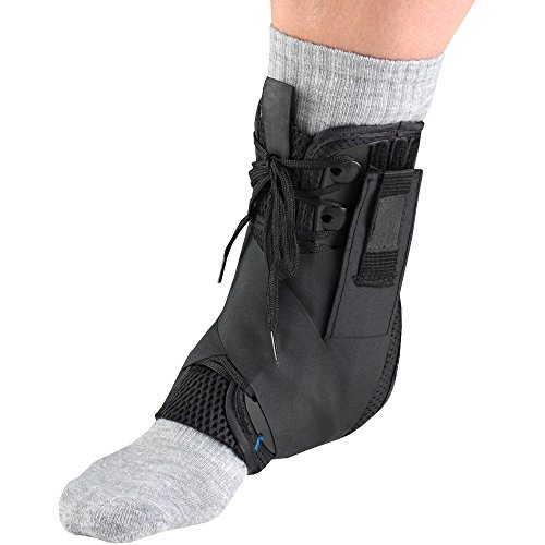 Slim Fit Ankle Support - OTC Ankle Stabilizer, Exoskeleton Support, Heel Locking Straps, Small