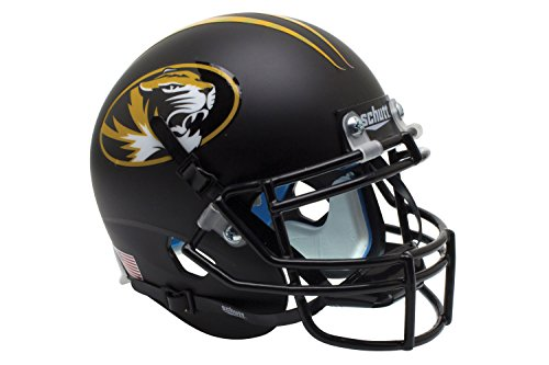 NCAA Missouri Tigers Matte BK Oval Mini Helmet, One Size