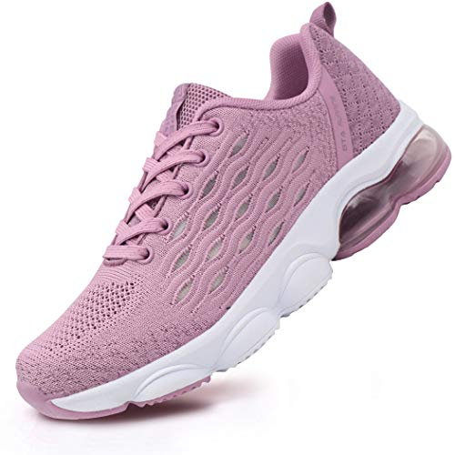 BEITA Women's Tennis Shoes Lightweight Sneakers Breathable Training Running Shoes Fitness Air Cushion Pink