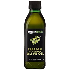 AmazonFresh Italian Extra Virgin Olive Oil, 16.9 fl oz (500mL) 102 A smooth blend with subtle notes of pepper and herbs Pressed and bottled in Italy Use for cooking, grilling, and in finishing dishes