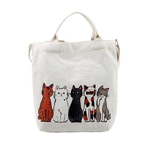 Shopping Bag Casual Bags Printed Bags Shoulder Bag Messenger Size Tote Cats Canvas Bag Cartoon Women's Handbags Bag Tote Fashion E Femme Beach Travel Large wOwqtCR