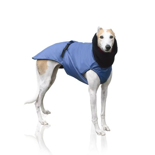Scooter's Friends Greyhound Dog Coat, Size Medium, Blue by Scooter's Friends