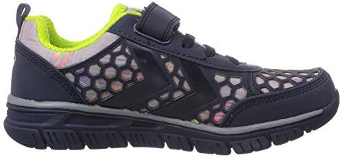 Hummel HUMMEL CROSSLITE II JR VELCRO - Zapatillas deportivas para interior de material sintético niños azul - azul (Dress Blue 7459)