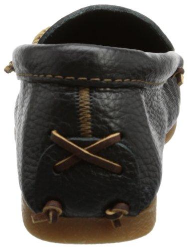 Minnetonka 969 - Zapatos cerrados de cuero para hombre Negro (Black)