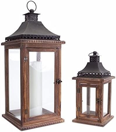 Amazon Com Lantern Set Of 2 Home Kitchen